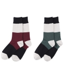 타타삭스(TATASOCKS) [2개 SET] BEWITCHED bold stripe socks 2P