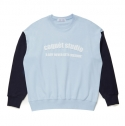 코케트 스튜디오(coquetstudio) UNISEX COLOR BLOCK SWEAT SHIRT [SKY BLUE/NAVY]