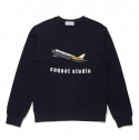 UNISEX 16FW COLLECTION AIRPLANE SWEAT SHIRT [NAVY]