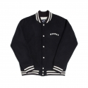 위캔더스(WKNDRS) RAGLAN WOOL STADIUM JACKET (NAVY)