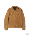 SUEDE TRUCKER JACKET - CIGAR BEIGE