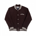 위캔더스(WKNDRS) RAGLAN WOOL STADIUM JACKET (BURGUNDY)