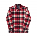 위캔더스(WKNDRS) PLAID COACH JACKET (RED)