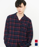 에드() TENCEL CHECK SHIRTS RED