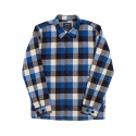 위캔더스(WKNDRS) PLAID COACH JACKET (BLUE)