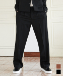 에드() SUPER WIDE SLACKS BLACK