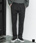 에드() ICON STRIPE WIDE SLACKS BLACK