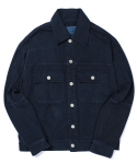 라이풀(LIFUL) RIDERS BACK ZIP TRUCKER JACKET washed navy