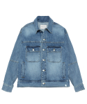 라이풀(LIFUL) RIDERS BACK ZIP DENIM JACKET washed indigo