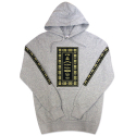 CROOKS & CASTLES Mens Knit Hooded Pullover - Native Cs (Heather Grey)