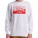 크룩스앤캐슬(CROOKS & CASTLES) CROOKS & CASTLES Mens Knit Crew Sweatshirt - Chopper (White)