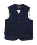 유니폼브릿지(UNIFORM BRIDGE) 16aw cotton vest navy