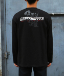 그라스하퍼(GRASSHOPPER) LEAP LONG T-SHIRT_BLACK