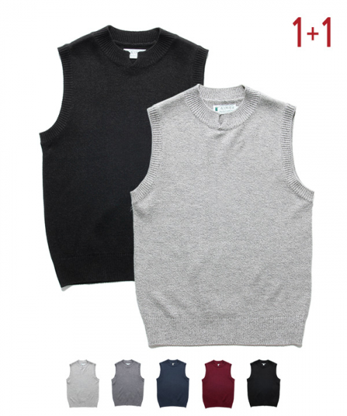 어커버_[1+1] Silt Neck Knit Vest #1