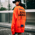 본챔스(BORN CHAMPS) LL OVERFIT SWEATSHIRT ORANGE CEPCMMT01OR