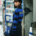 본챔스(BORN CHAMPS) B WIDE STRIPE TEE BLUE CEPCMTS04BL