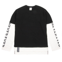 [네버에버] NEVEREVER - NEV LAYERD LONG SLEEVES (Black)