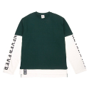 네버에버(NEVEREVER) [네버에버] NEVEREVER - NEV LAYERD LONG SLEEVES (Hunter Green)