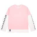 [네버에버] NEVEREVER - NEV LAYERD LONG SLEEVES (Pink)