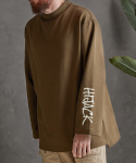애터27(ATTA27) OVERSIZED HIJACK SWEAT _ OLIVE