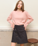 션메익스클로스(SEANMAKESCLOTH) RINGO SKIRT-WINE/BLACK