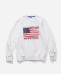 블루야드(BLUE YARD) FLAG CREWNECK WHITE