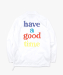 해브 어 굿 타임(HAVE A GOOD TIME) Logo Coach Jacket - White