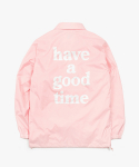 해브 어 굿 타임(HAVE A GOOD TIME) Logo Coach Jacket - Pink