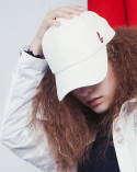 비에이블투(B ABLE TWO) Signature Leather Ball Cap (WHITE)