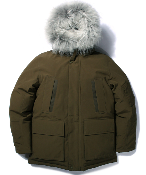라이풀_SHELTER DOWN PARKA olive