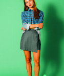 러닝하이(RUNNING HIGH) ASYMMETRY DOUBLE MINI SKIRT [GRAY]