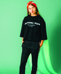 러닝하이(RUNNING HIGH) [UNISEX] UNIVERSAL MIND STRING CUT&SEWN [BLACK]