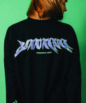 러닝하이(RUNNING HIGH) [UNISEX] UNIVERSAL MIND LONG SLEEVE CUT&SEWN [BLACK]