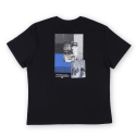Oversize Barcode Face Tee Black