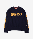 BROKEN CREWNECK NAVY