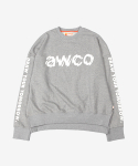 어코(AWCO) BROKEN CREWNECK SPORTS GRAY