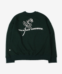 DRAW CREWNECK DEEP GREEN