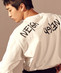 살롱드서울(SALON DE SEOUL) Unisex Neigh Over Sleeve T-Shirt (IVORY)