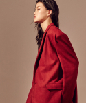 살롱드서울(SALON DE SEOUL) Unisex Single Half Coat (RED)