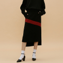 바이바이섭(BIBYSEOB) D.POINT LONG SKIRT_BLACK