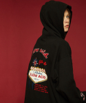 슬로우애시드(SLOW ACID) Welcome hoodie (black)