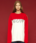 슬로우애시드(SLOW ACID) Colorblock sweatshirt (red)