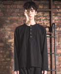 Unbalance button Tee (knit_black)
