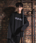 다이르 렌 모드(DAIR LEN MODE) Logo oversize sweat shirt (black)