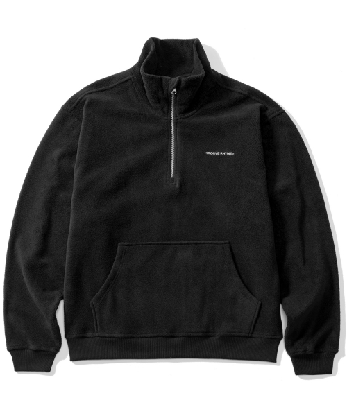 그루브라임_2016 HIGH NECK HALF ZIP-UP (BLACK) [GZ001E43BK]