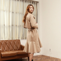와드로브() FLARE TRENCH COAT_BEIGE