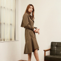 와드로브(WARDROBE) FLARE TRENCH COAT_KHAKI