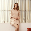 와드로브(WARDROBE) TIE UP SLEEVE KNIT_BEIGE