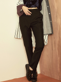 블랭크(BLANK) TAILORED PANTS-BK/GY