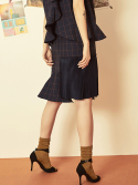 블랭크(BLANK) CHECK MIX SKIRT-NV
